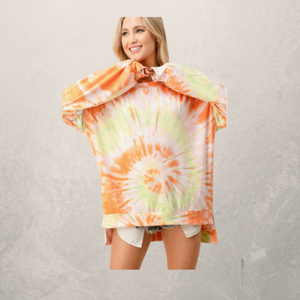 Spin Tie Dye Oversized Top