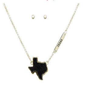 Texas Necklace Black