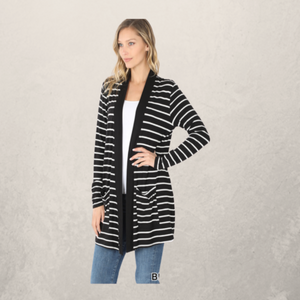 Striped Slouchy Cardigan