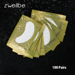 100pairs/pack Eyelash Extension Paper Patches Grafted Eye Stickers Golden Eyelash Under Eye Pads Eye Paper Patches Tips Sticker
