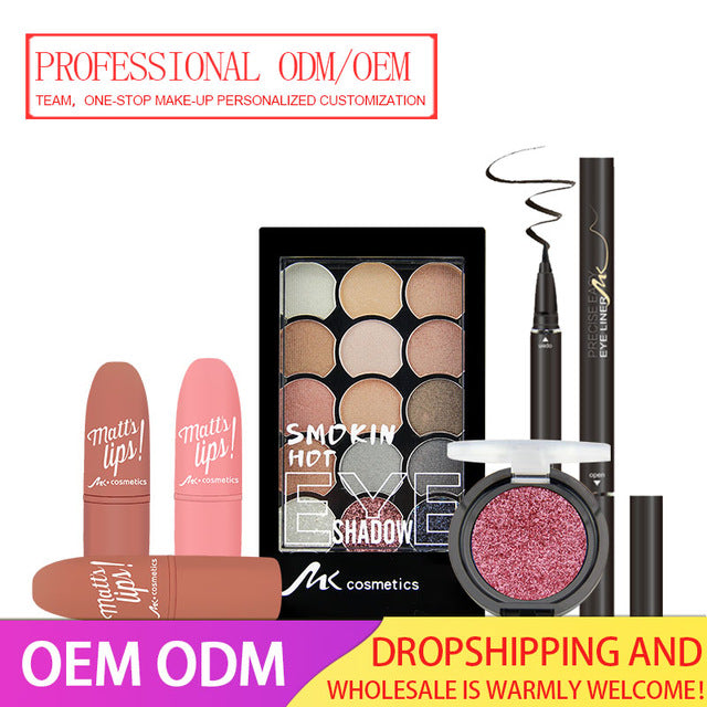 MK Brand Professional Makeup Manufacturer Source Factory Lipsticks Eyeshadow Cosmetic ODM/OEM Personalized Customization
