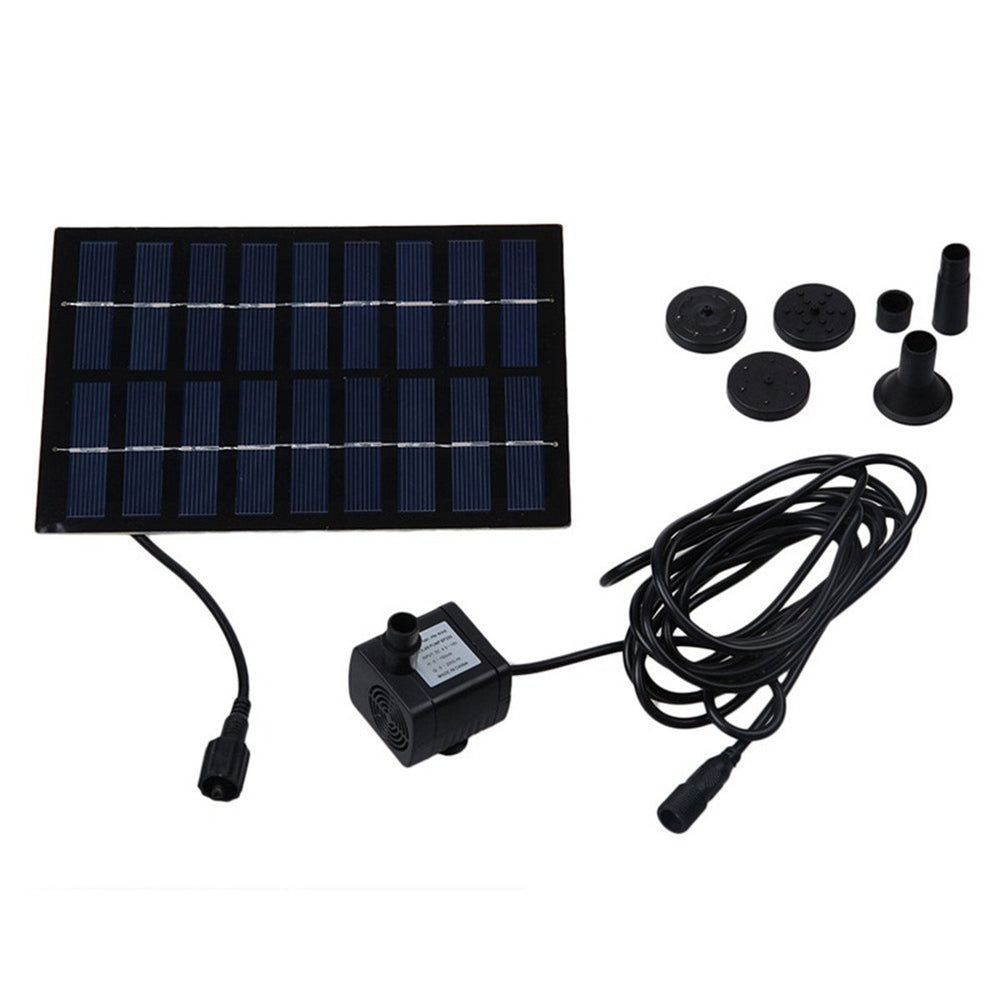 1.8 W Solar Water Pump Outdoor Watering Submersible Water Fountain for Pond Pool Aquarium Fountains Spout Garden Patio Maximum Flow 220L/h