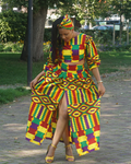Multi-colored Ankara two-piece
