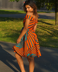 Bluerange dress