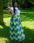long Ankara skirt