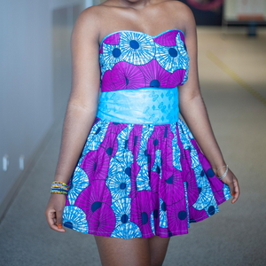 AFRICAN PRINT HALIMABA MINI SKIRT