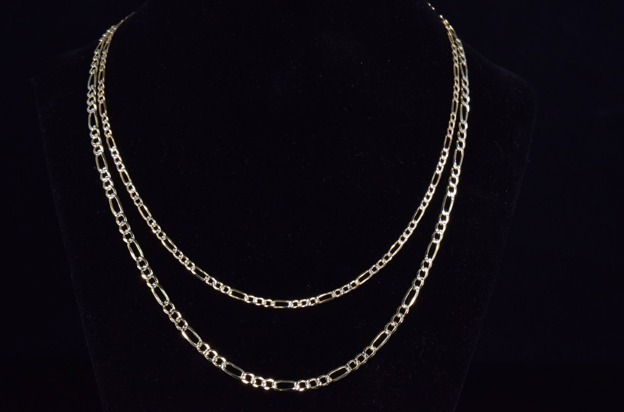 'TWO-TONE FIGARO NECKLACE'