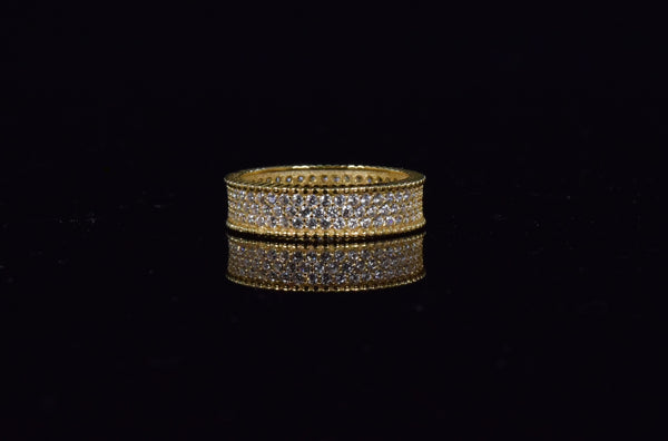 'MICRO PAVE GOLD BAND'