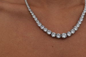 'GRADUATED ICE' TENNIS NECKLACE - SHOP PAIGE
