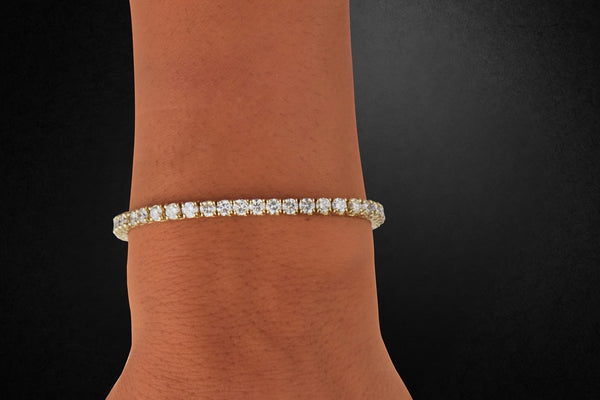 '14K GOLD DIAMOND TENNIS BRACELET'
