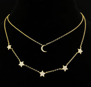 'STARS & MOON LAYERED NECKLACE'
