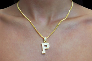 'VARSITY LETTER NECKLACE'