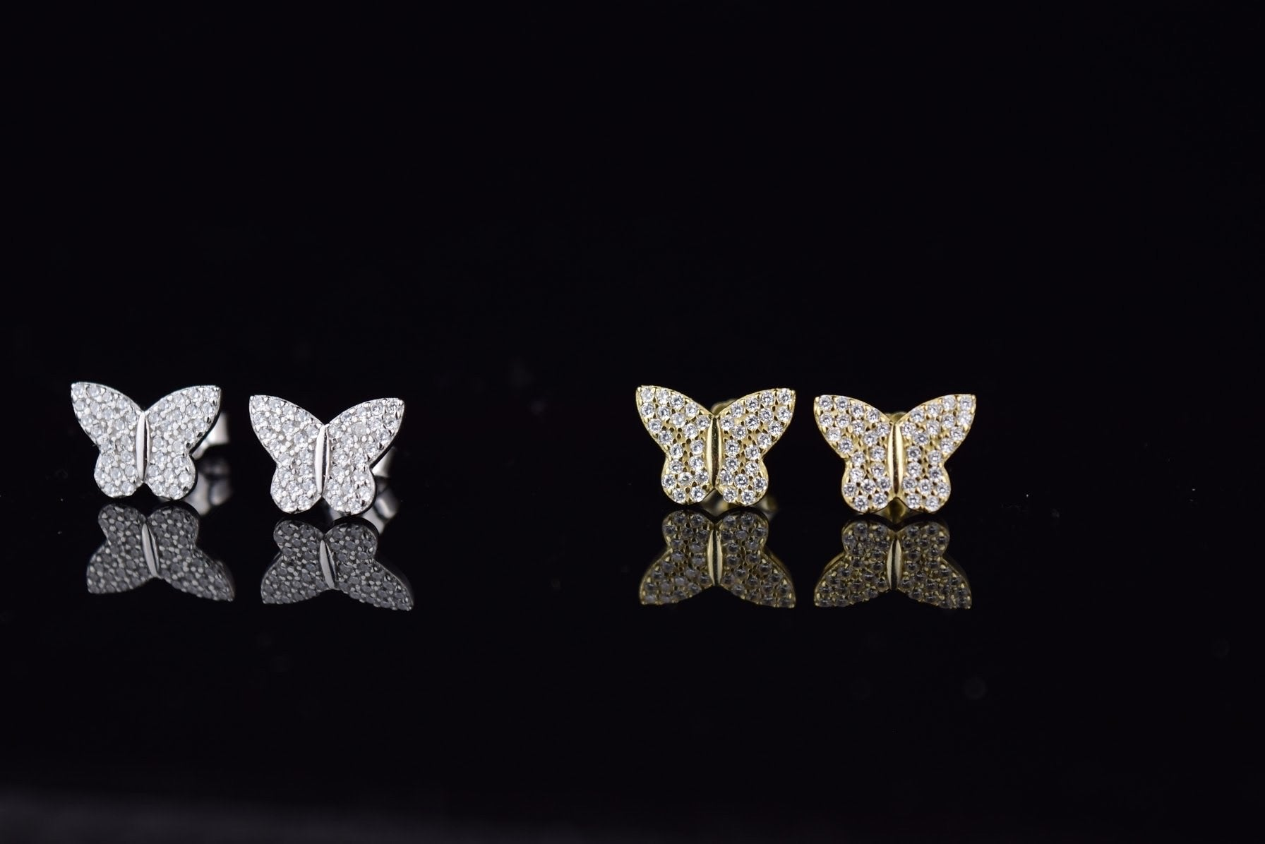 'BUTTERFLY CRYSTAL STUDS' - SHOP PAIGE