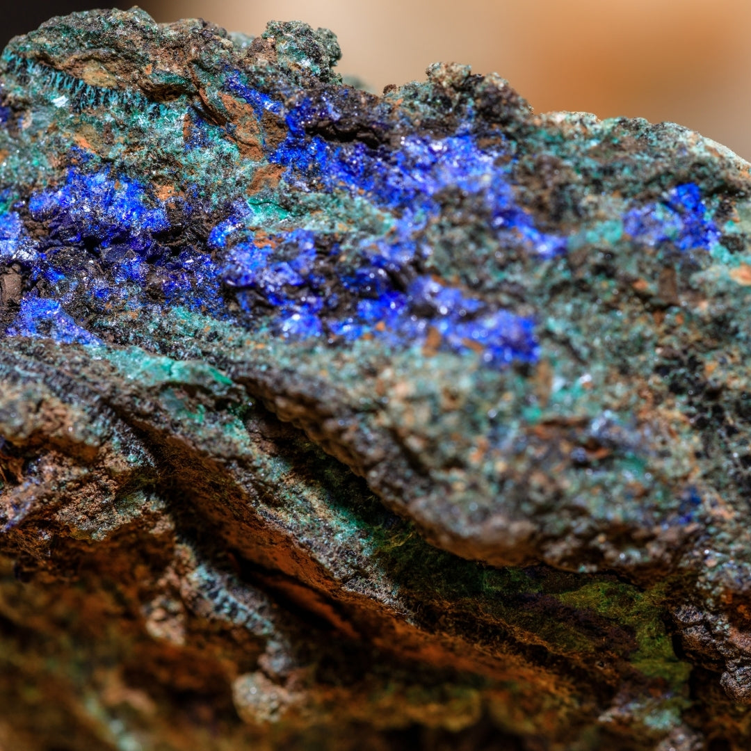 large azurite mineral gemstone photo