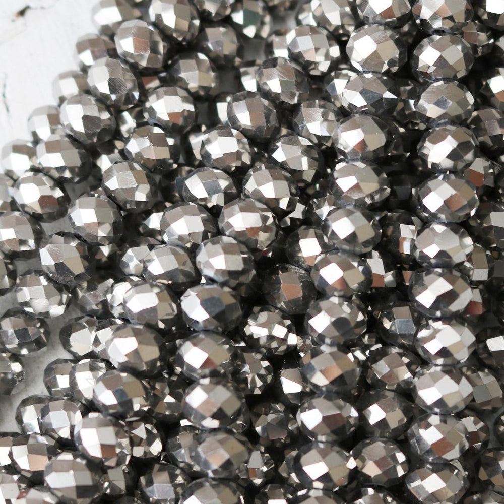 8mm × 6mm Rondelle Crystal Beads