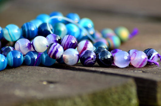 agate gemstone beads in summer