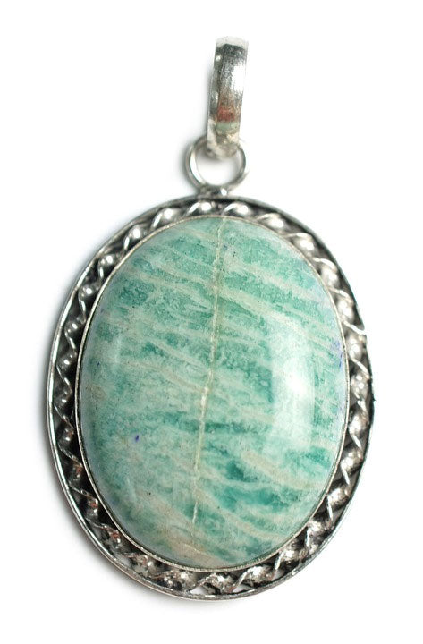 amazonite stone pendant for a goddess