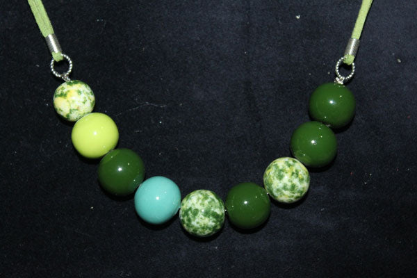 green necklace for a woman