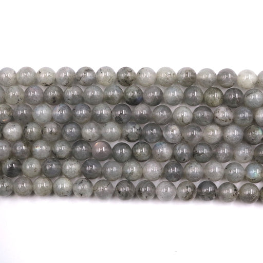 8mm round labradorite beads, glossy, 1 strand, approx. 16 inches. approx. 48 beads.
