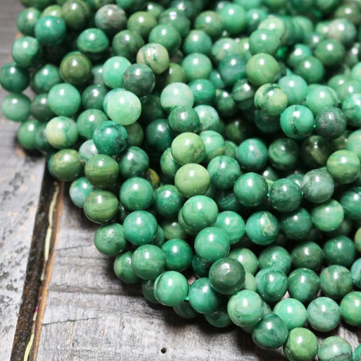 African jade, 10mm, round, glossy, 1 strand, 16 inches, approx. 40 beads.-Gemstone Beads-BeadsVenture
