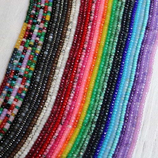 amethyst jade, approx. 4mm x 2mm, rondelle, faceted, 1 strand, 16 inches, approx. 110 beads.-Gemstone Beads-BeadsVenture