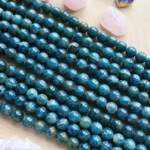 apatite, 9mm, round, glossy, 1 strand, 16 inches, approx. 44 beads.-Gemstone Beads-BeadsVenture
