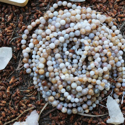 Australian agate, 8mm, round, glossy, 1 strand, 16 inches, approx. 48 beads.-Gemstone Beads-BeadsVenture