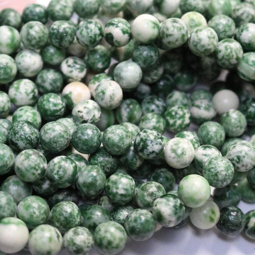 ching hai jade, 10mm, round, glossy, 1 strand, 16 inches, approx. 40 beads.-Gemstone Beads-BeadsVenture