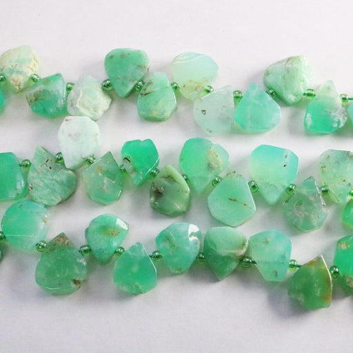 chrysoprase, approx. 12mm × 14mm, teardrop, 1 strand, 16 inches, approx. 43 beads.-Gemstone Beads-BeadsVenture