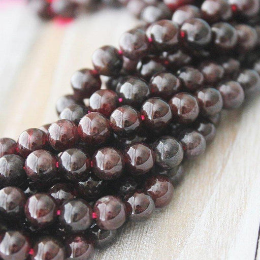 Garnet 7-7.5mm, Round Beads, A quality, Red Beads, Natural Gemstone,-Gemstone Beads-BeadsVenture