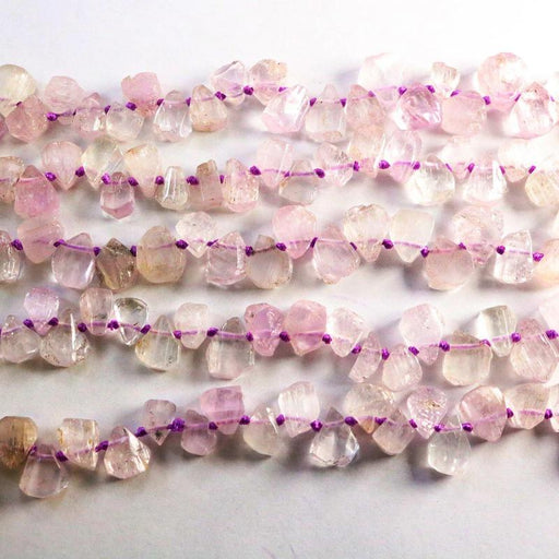 Kunzite, approx. 10mm × 12mm, drop, 1 strand, 16 inches, approx. 50 beads.-Gemstone Beads-BeadsVenture