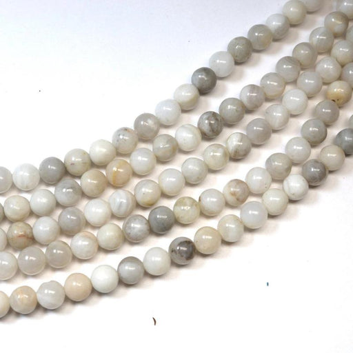white crazy lace agate, 4mm, round, glossy, 1 strand, 16 inches, approx. 100 beads.-Gemstone Beads-BeadsVenture
