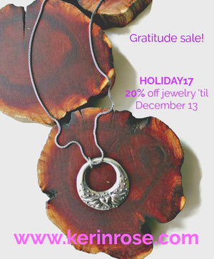 Kerin Rose jewelry once a year gratitude sale.......
