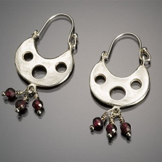 Three hole hoop earring