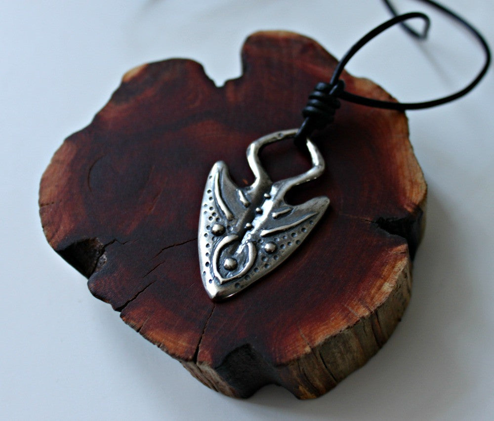 Arrowhead necklace soul warrior silver pendant