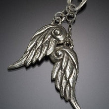 Load image into Gallery viewer, double wings silver  necklace