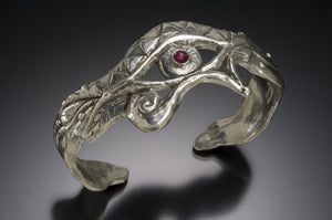Egyptian eye cuff bracelet