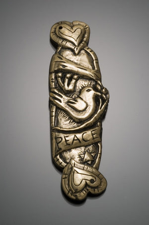 Peace dove mezuzah