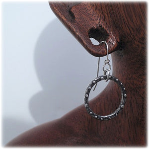 small circle dangle earrings handmade ecofriendly silver by kerin rose