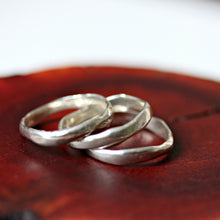 Load image into Gallery viewer, River Spirit  silver stacking rings