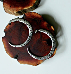 Supernova hoop earrings