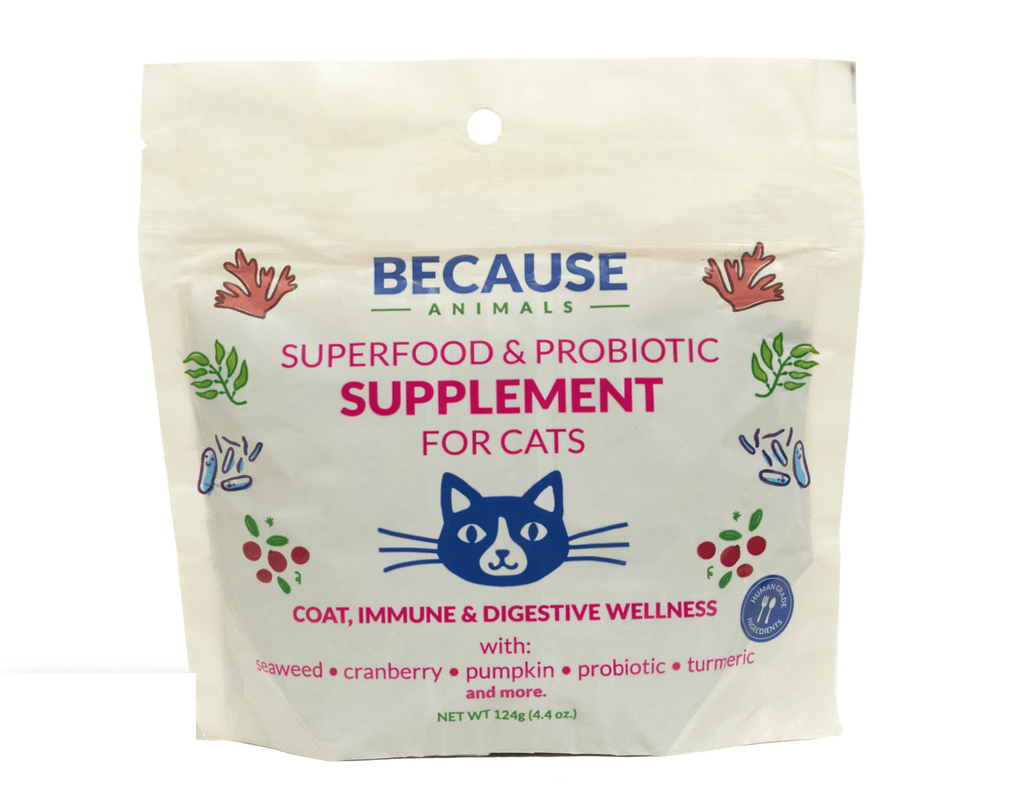 Because Animals Superfood & Probiotic Supplement for Cats