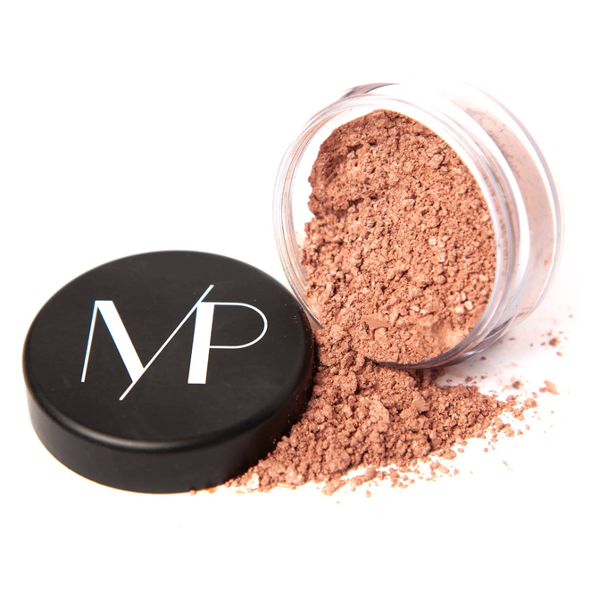 Natural Mineral Blush Powder Makeup in Pink Champagne