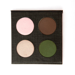 Natural Mineral Eye Shadow Quad Makeup in Ocean Dance
