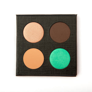 Natural Mineral Eye Shadow Quad Makeup in Show Off