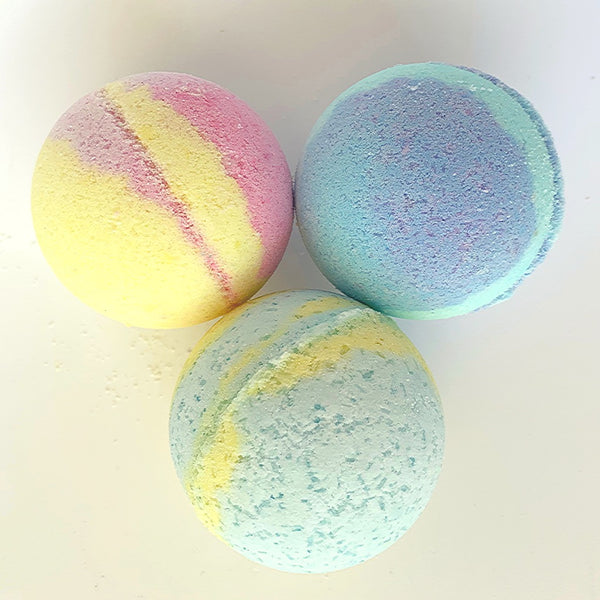 SALE: 6 bath bombs - 3 Large, 3 Small - random scents