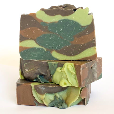 Camo Olive Oil Soap with Beeswax