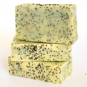 Lemon Poppy Seed Olive Oil Soap with Beeswax