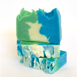 Misty Mint Olive Oil Soap with Beeswax