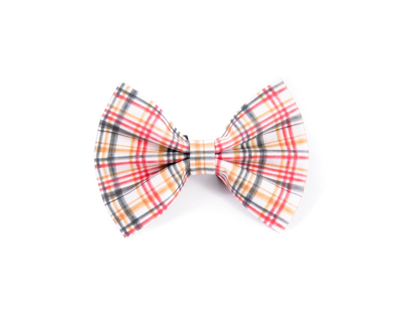 Golden plaid - Bow tie